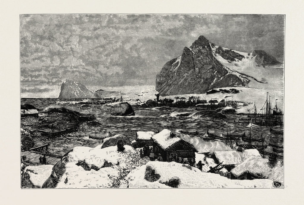 Detail of A Lofoten Village During the Fishing Season by Anonymous