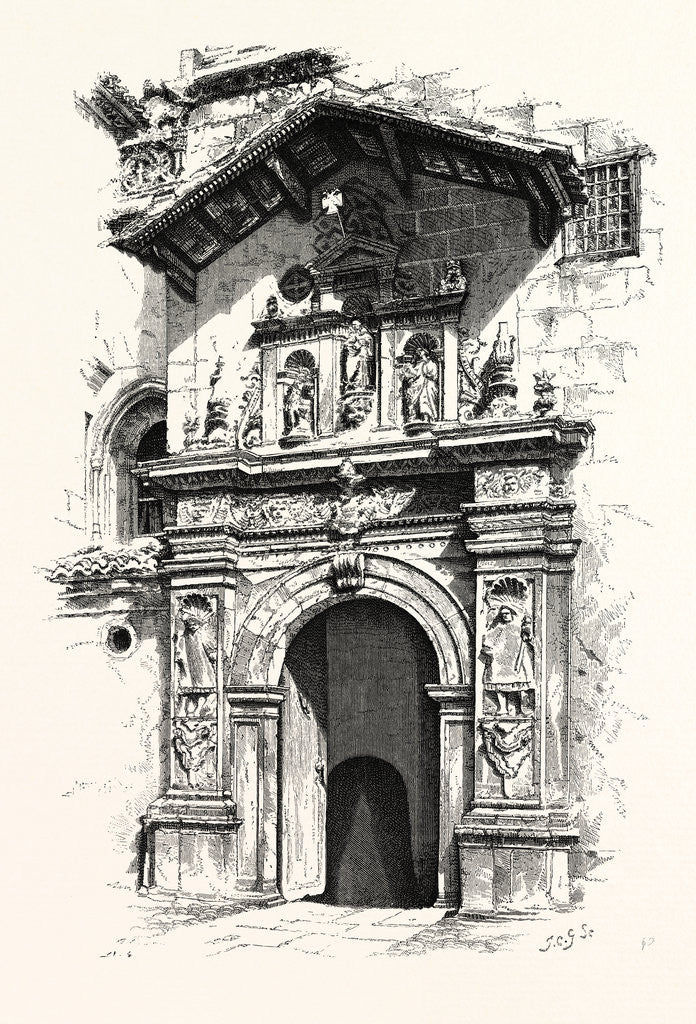 Detail of Entrance to the Tomb of Ferdinand and Isabella by Anonymous
