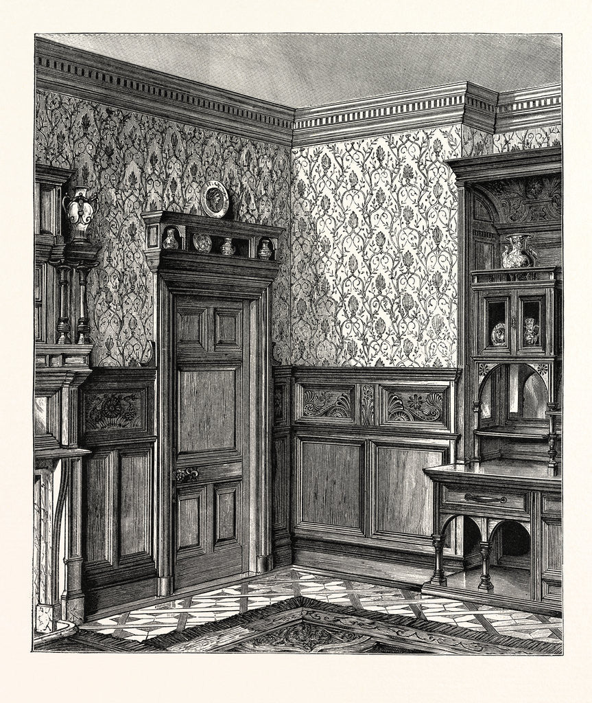 Detail of Dining Room Woodwork, Messrs. Howard And Sons by Anonymous