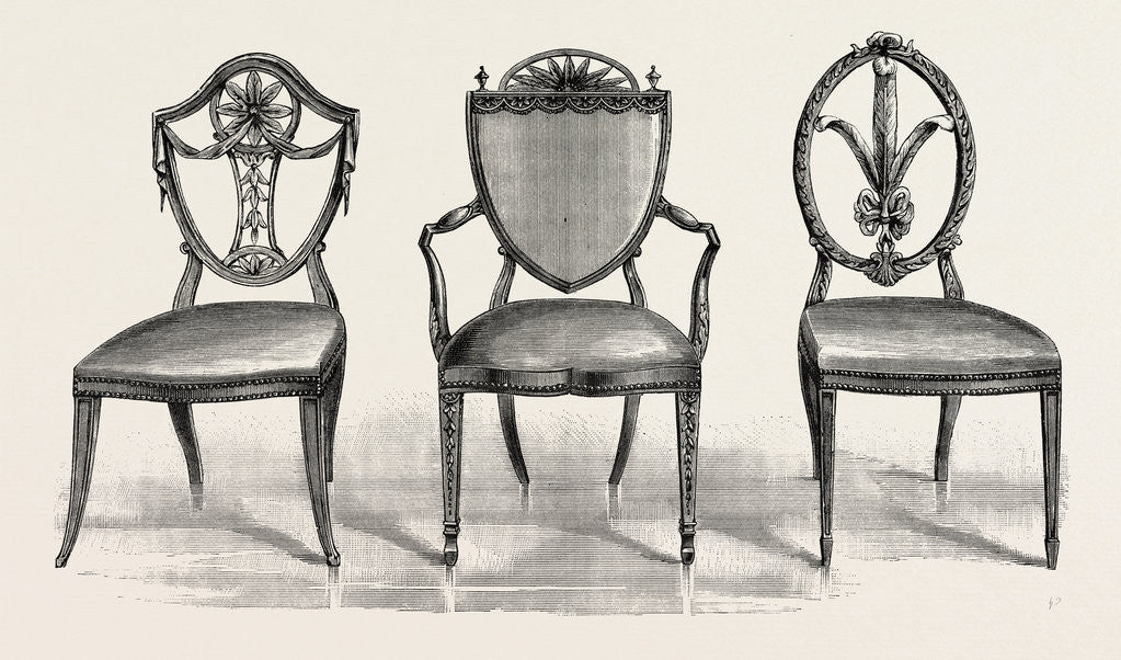 Detail of Chairs, 1789 by Anonymous
