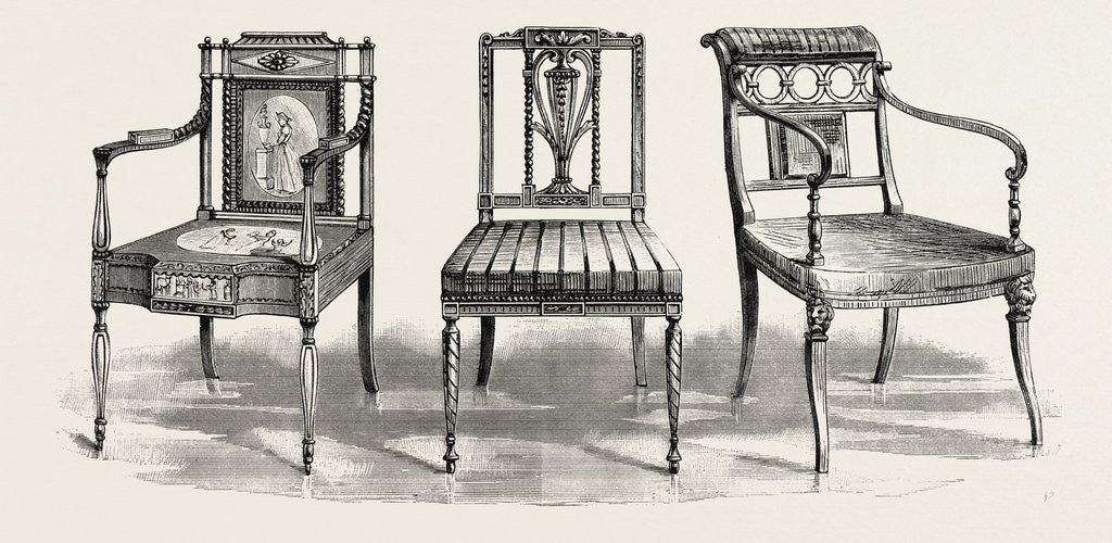 Detail of Chairs, 1793 1802 by Anonymous