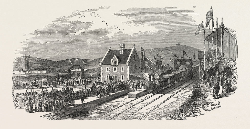 Detail of Opening of the North Devon Railway. Arrival of the Train at Barnstaple UK 1854 by Anonymous