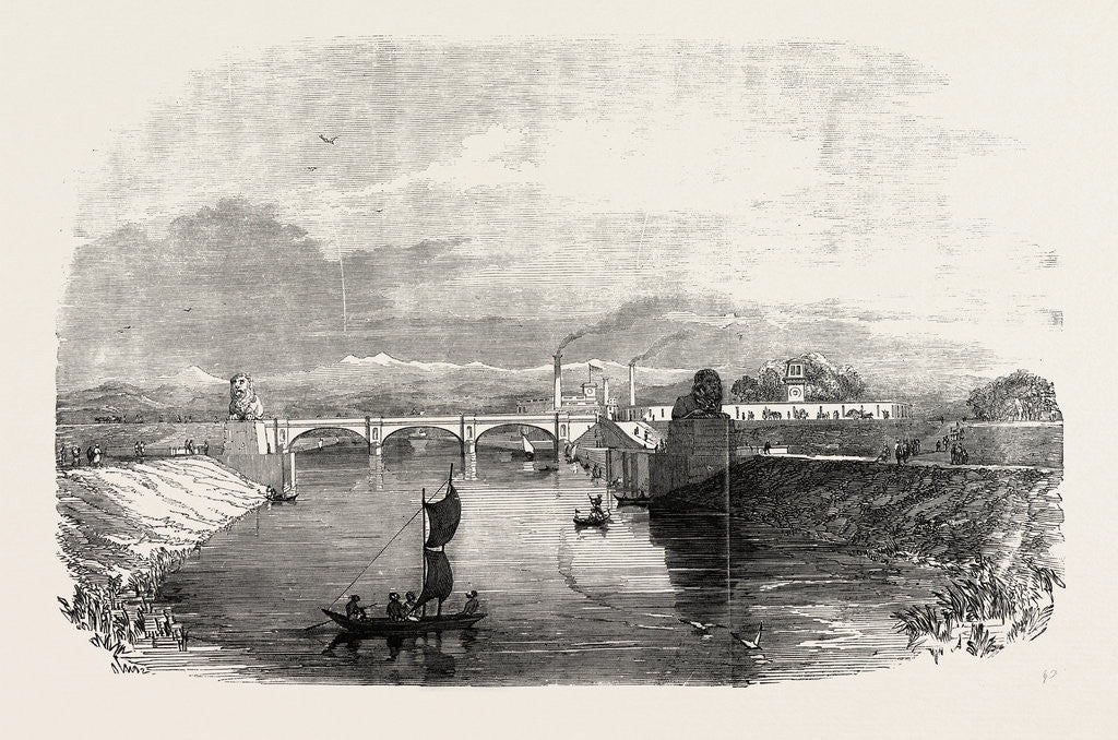 Detail of The Ganges Canal at Roorker India 1854 by Anonymous