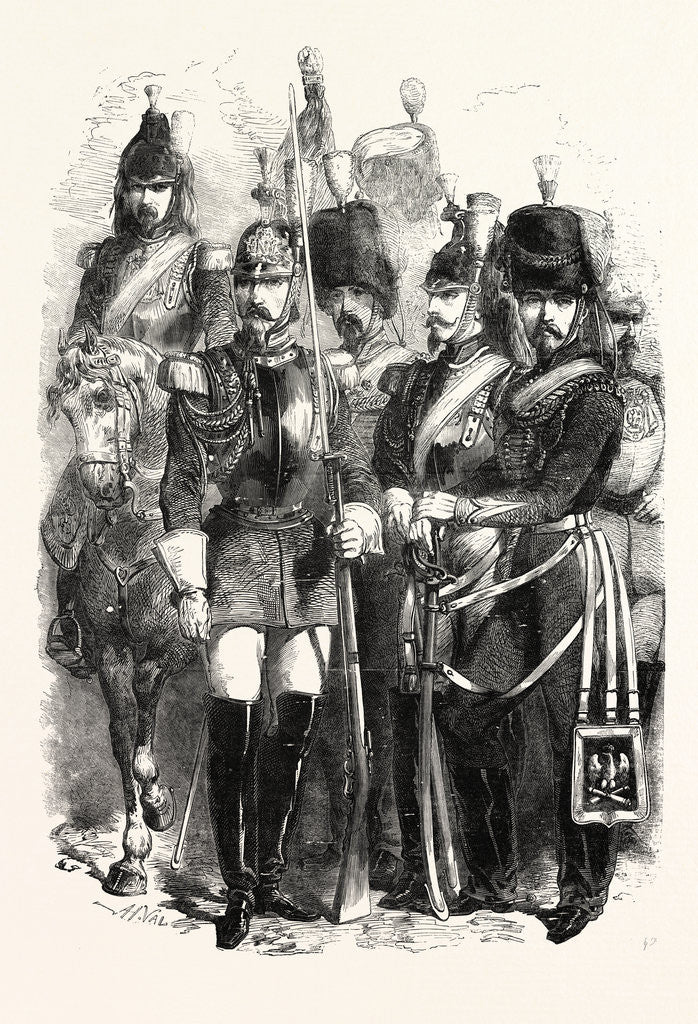 Detail of Cavalry of the French Imperial Guard 1854 by Anonymous