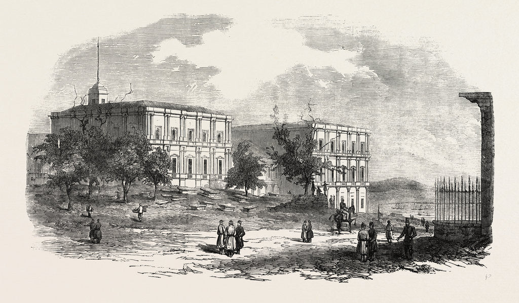 Detail of The French Military Barracks Outside Pera 1854 by Anonymous