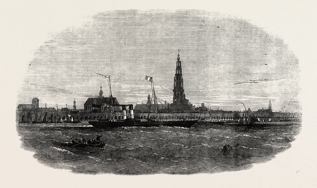 Detail of New Route to Belgium: The Aquila Steamship Leaving Antwerp 1854 by Anonymous