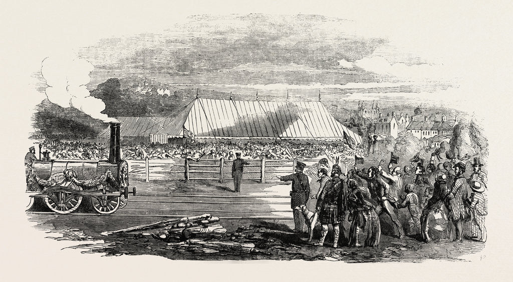 Detail of Opening of the Great North of Scotland Railway the Huntly Station 1854 by Anonymous