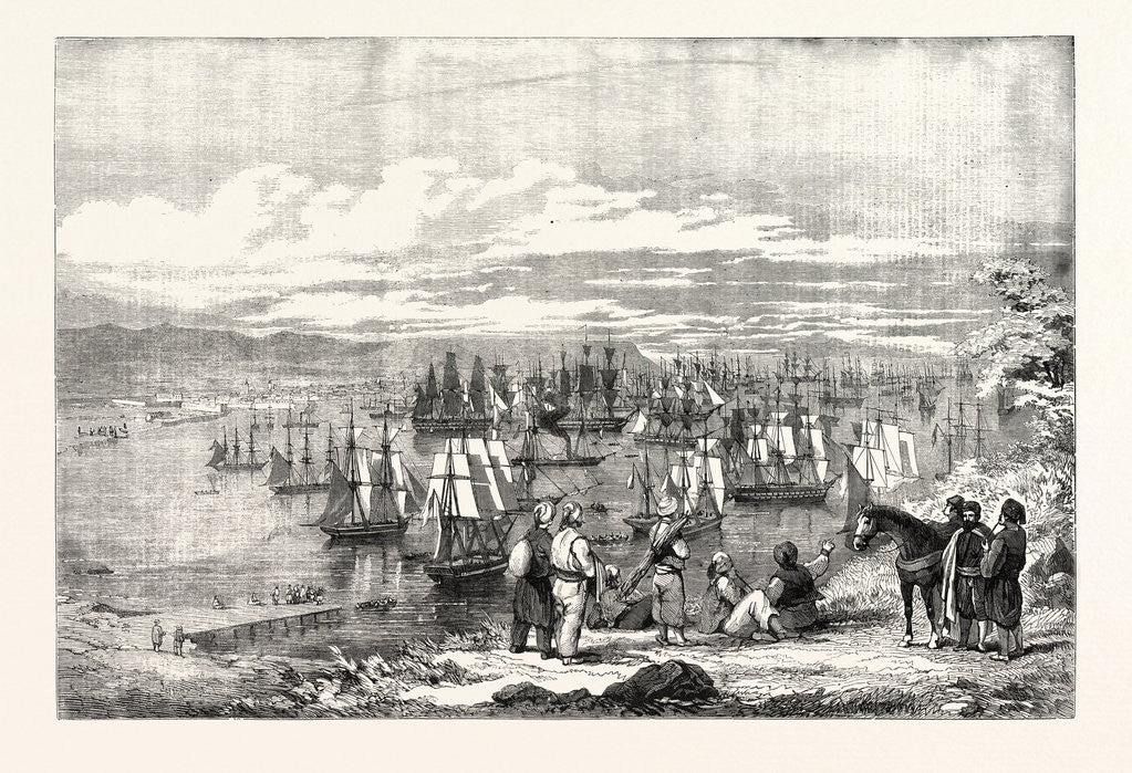 Detail of The Crimean War: Varna Bay: The Allied Fleet Getting Under Way for the Crimea 1854 by Anonymous