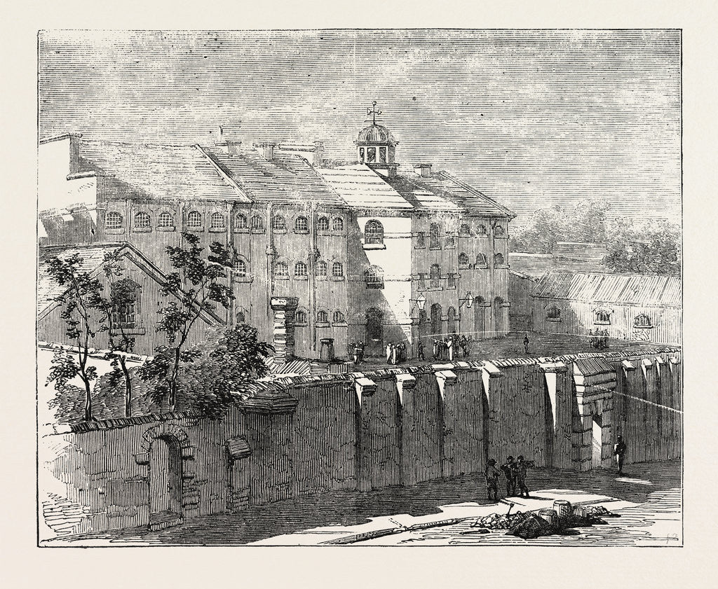 Detail of Gaol at Lewes in which the Russian Prisoners Are Confined 1854 by Anonymous