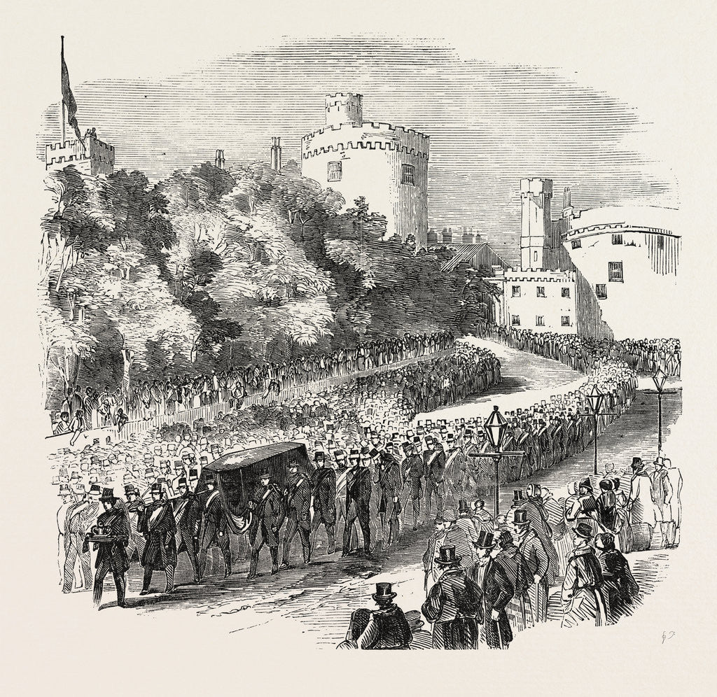Detail of Funeral of the Late Marquis of Ormonde. The Procession Leaving Kilkenny Castle 1854 by Anonymous