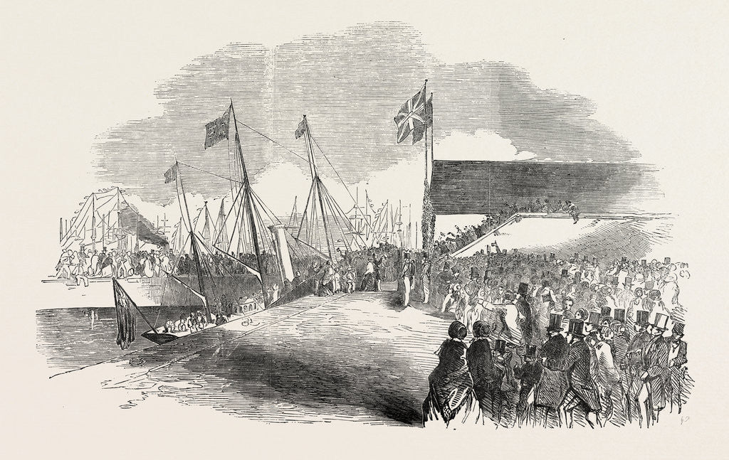 Detail of Her Majesty's Visit to Hull and Grimsby: Her Majesty Landing at Grimsby 1854 by Anonymous