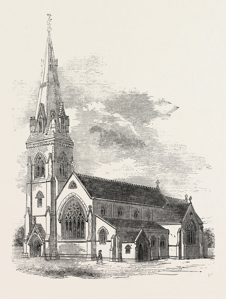 Detail of New Church of St. John Radipole Weymouth 1854 by Anonymous