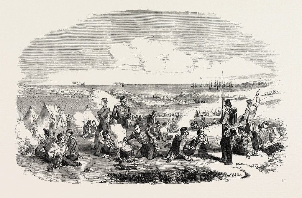 The Crimean War: Camp of the 21st Fusiliers on the Heights of Sebastopol 1854 by Anonymous