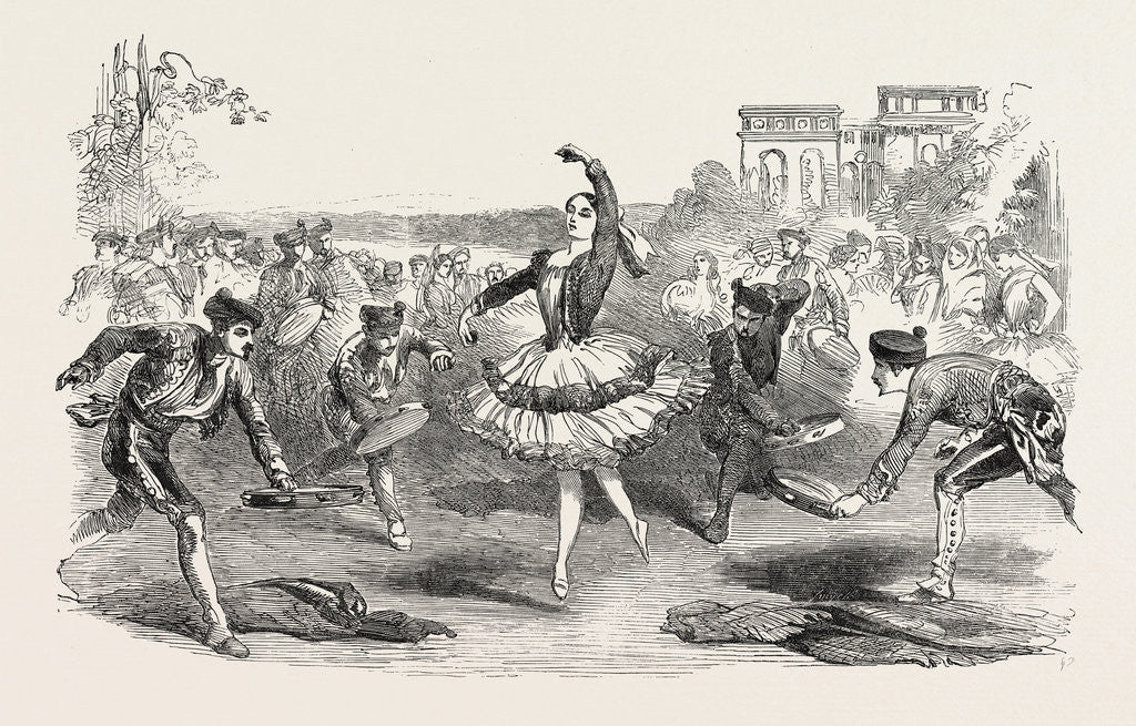 Detail of The Spanish Dancers at the Haymarket Theatre London 1854 by Anonymous