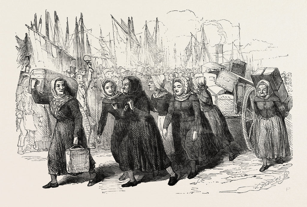 Detail of Boulogne Fishwomen Carrying the Luggage of the Nurses for the East 1854 by Anonymous