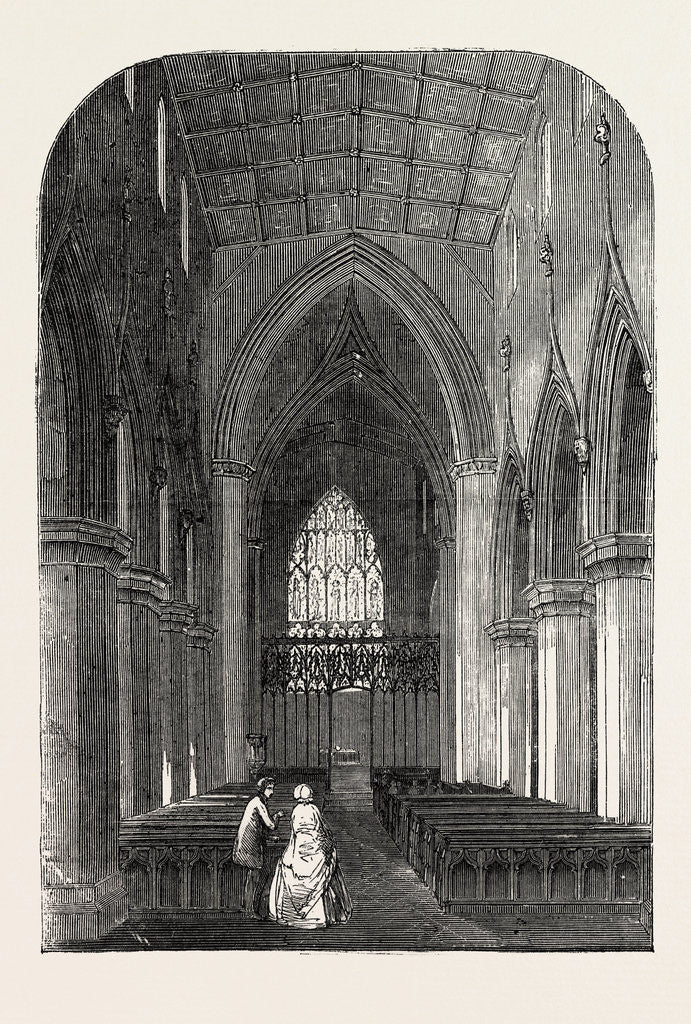 Detail of Interior of St. George's Church, Doncaster, UK, 1853 by Anonymous