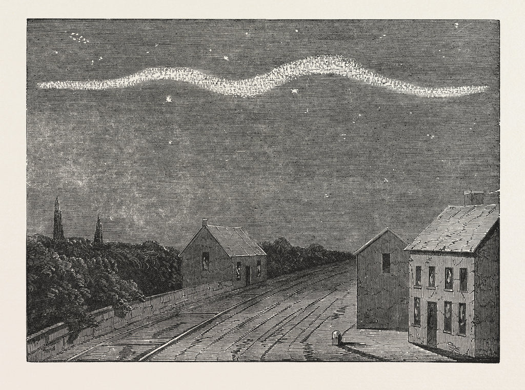 Detail of Extraordinary Meteor Seen Over Dublin, on the Night of September 2, 1853 by Anonymous
