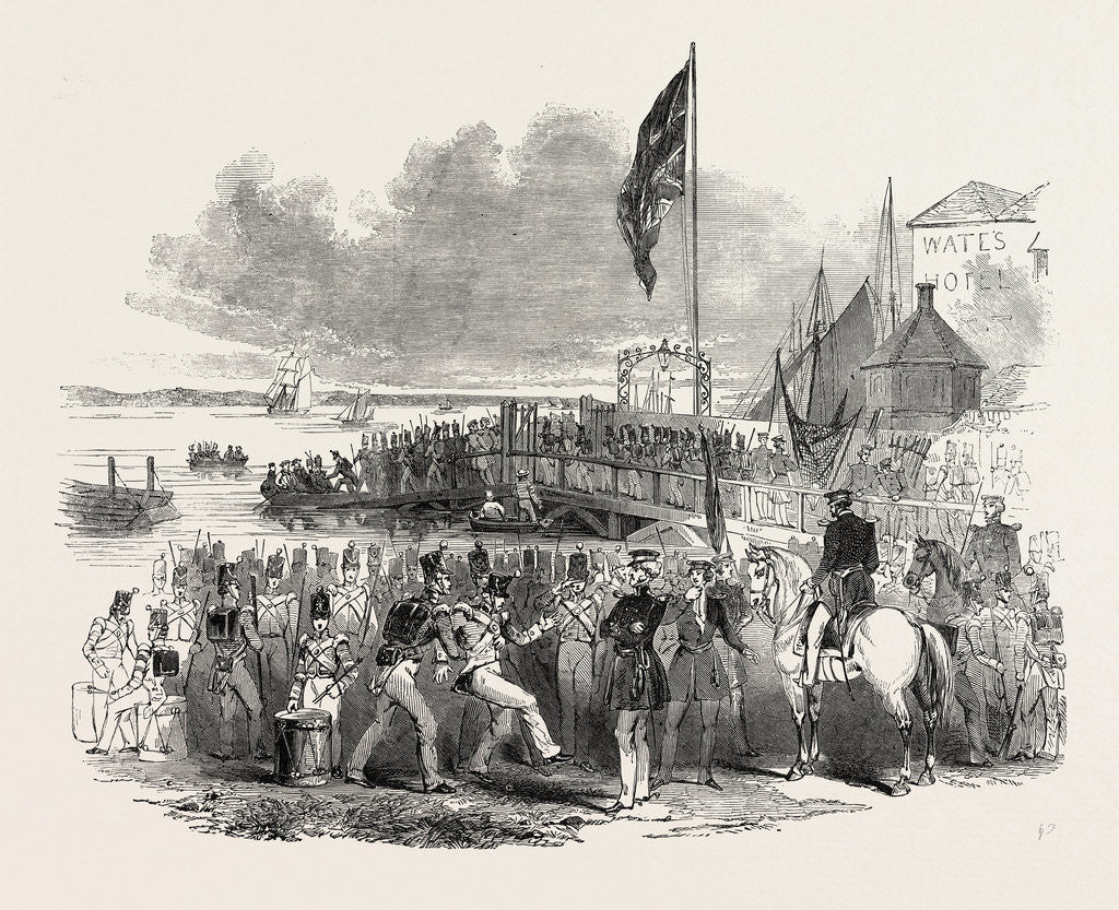 Detail of Embarkation of Troops at Gravesend, for Foreign Service: Preparing to Embark. UK, 1846 by Anonymous