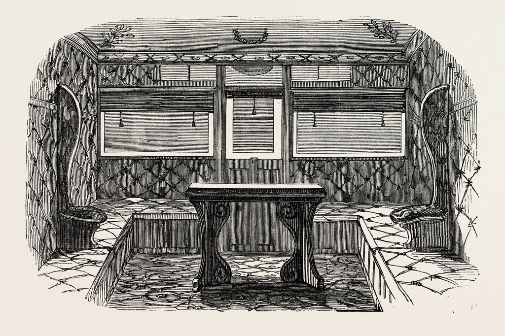 Detail of Interior of Compartment of First-Class Carriage, 1847 by Anonymous