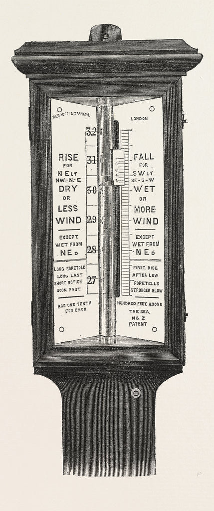 Detail of Barometers for Life-Boat Stations by Anonymous