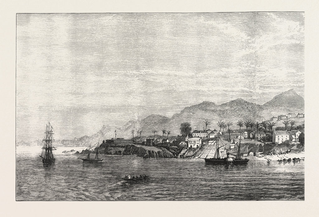 Detail of Freetown, Sierra Leone, 1874 by Anonymous