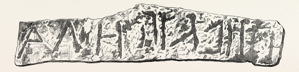 Boundary Stone of Gezer, in Palestine, Discovered by M. Clermont-Ganneau, 1874 by Anonymous