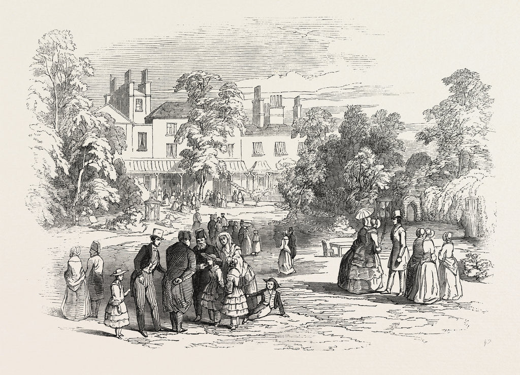 Detail of Fete at Bedford Lodge, Campden Hill, 1846 by Anonymous