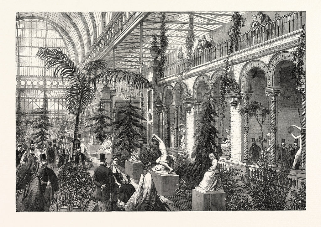 Detail of Exhibition of Sculpture in the Garden of the Horticultural Society, South Kensington, London, 1863 by Anonymous
