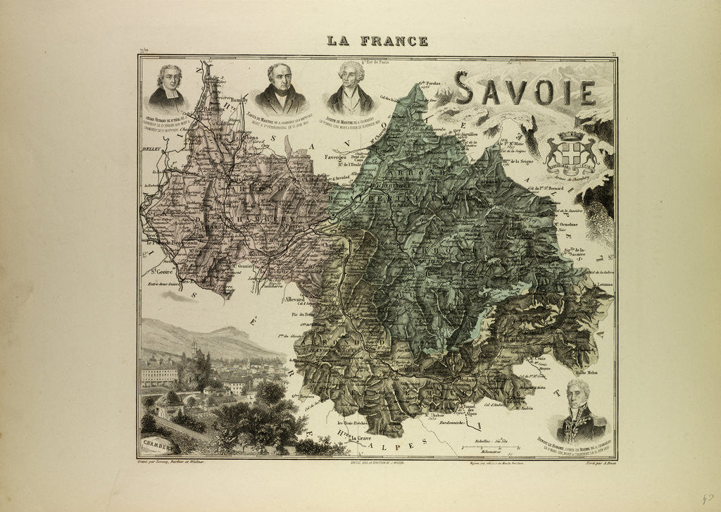 Detail of Map of Savoie by Anonymous