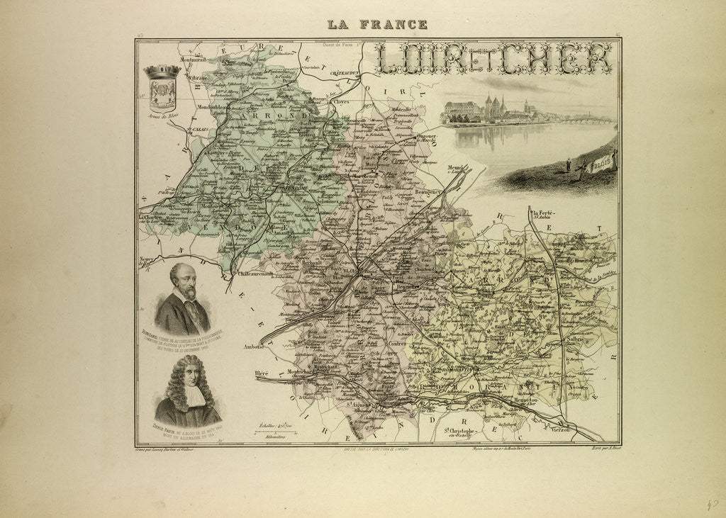 Detail of Map of Loir and Cher by Anonymous