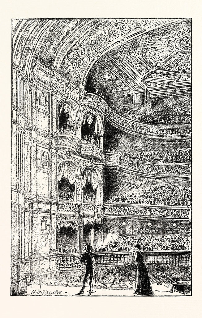 Detail of The Royal English Opera House in Cambridge Circus: Interior View 1891 by Anonymous