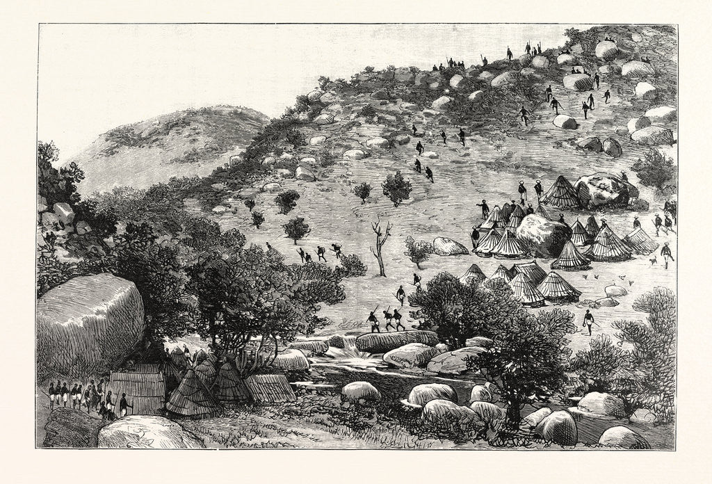 Detail of The Collision Between English and Portuguese in Manicaland: The Capture of the Portuguese Camp in the Valley below Umtasa's Kraal by the British South Africa Co.'s Police by Anonymous