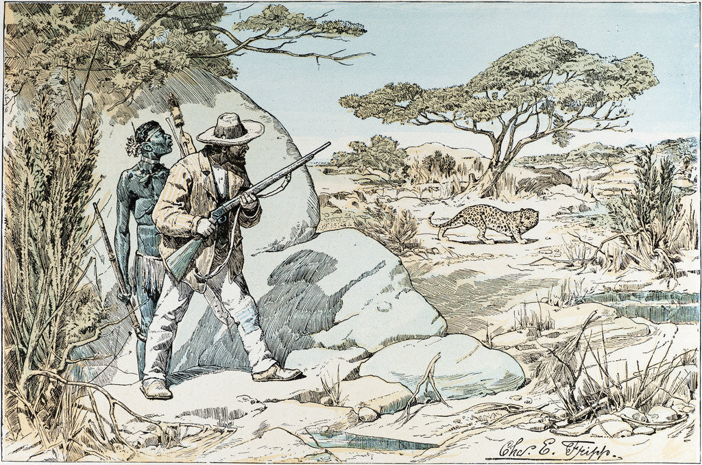 Detail of Hunting in South Africa by Anonymous