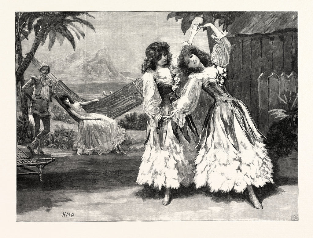 Detail of Robinson Crusoe the Guards' Burlesque at the Chelsea Barracks: The Pas De Deux in the Second Act UK by Anonymous