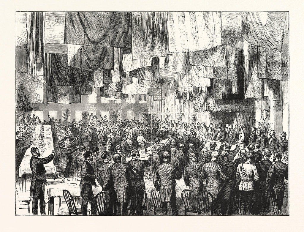Detail of The Extension of the Natal Railway to Charlestown: The Banquet at Charlestown by Anonymous