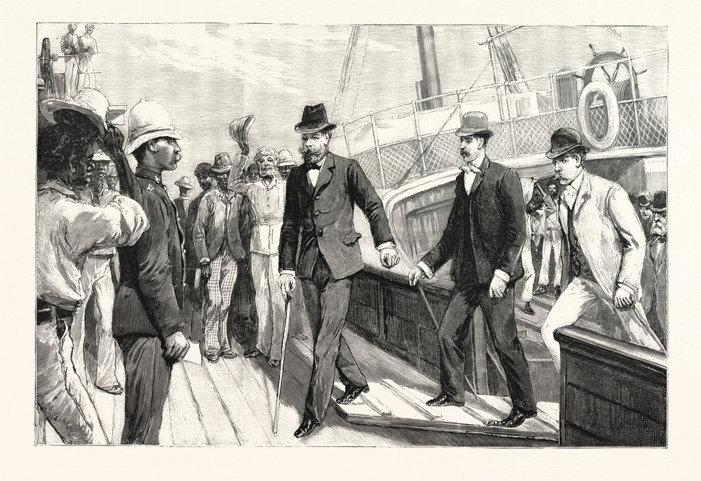 Detail of Lord Randolph Churchill's First Step on African Soil: Landing at Table Bay from the Steam Tug Tiger by Anonymous
