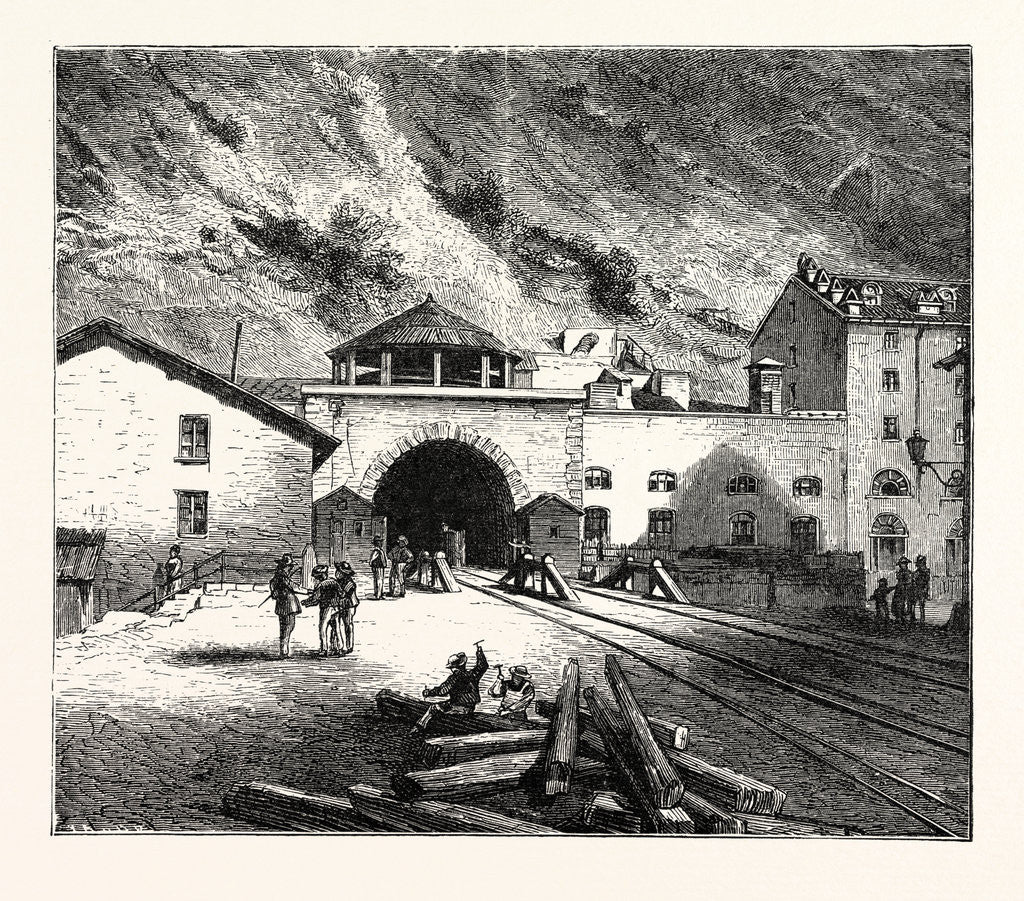 Detail of The Mont Cenis Tunnel from the Italian Side by Anonymous