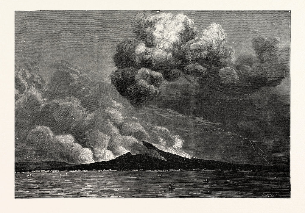 Detail of Eruption of Mount Vesuvius in 1872 by Anonymous