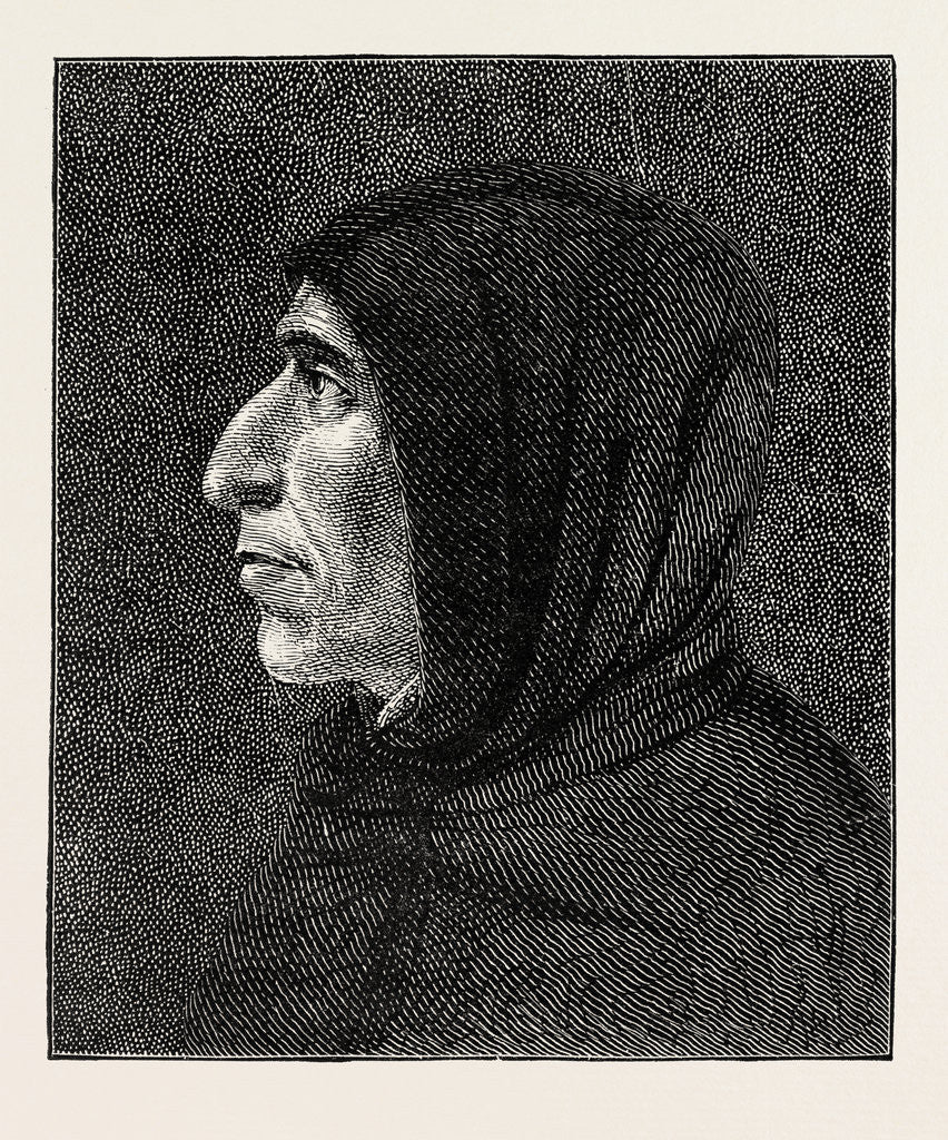 Detail of Savonarola after the Portrait in San Marco by Anonymous