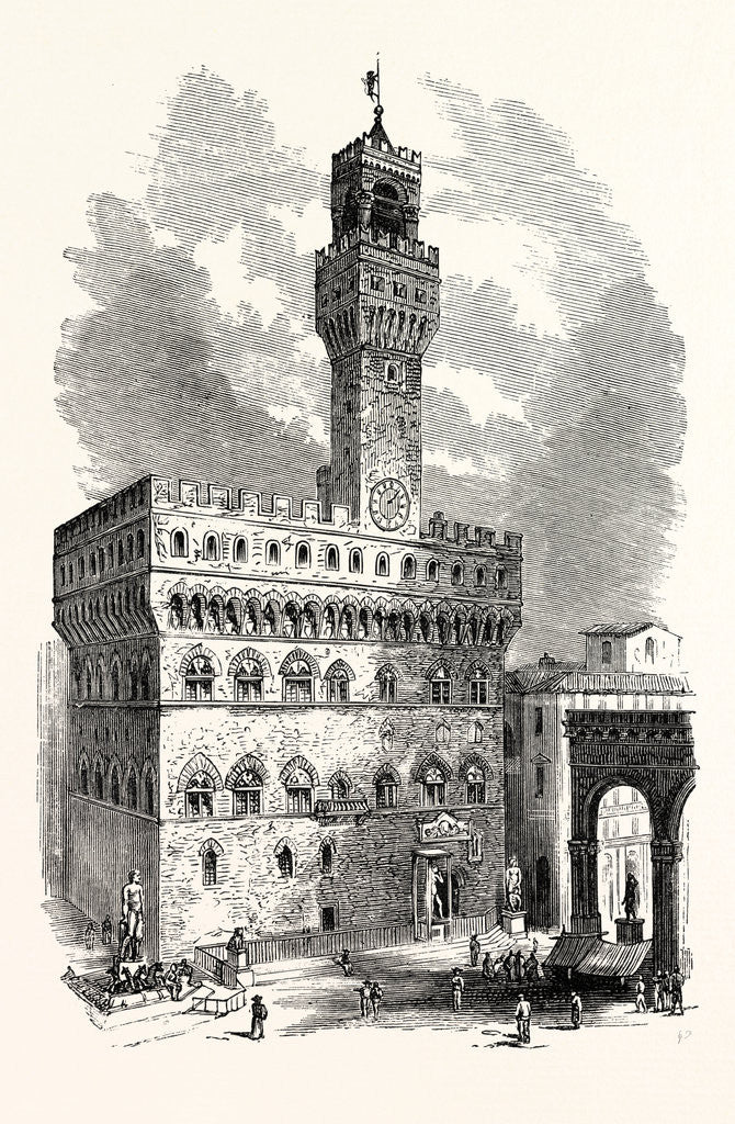 Detail of The Palazzo Vecchio by Anonymous
