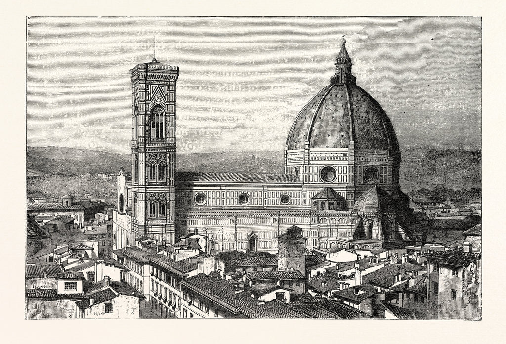 Detail of The Duomo and Campanile by Anonymous