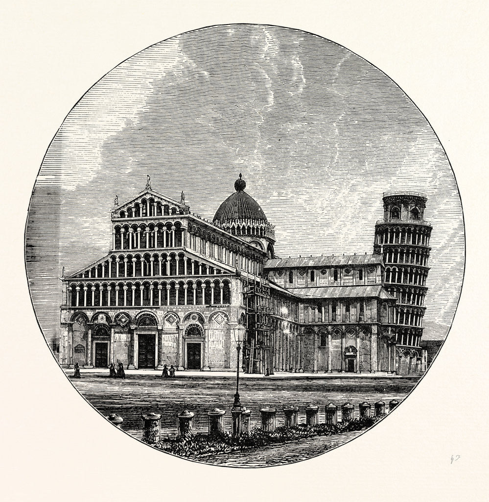 Detail of The Cathedral and Campanile Pisa by Anonymous