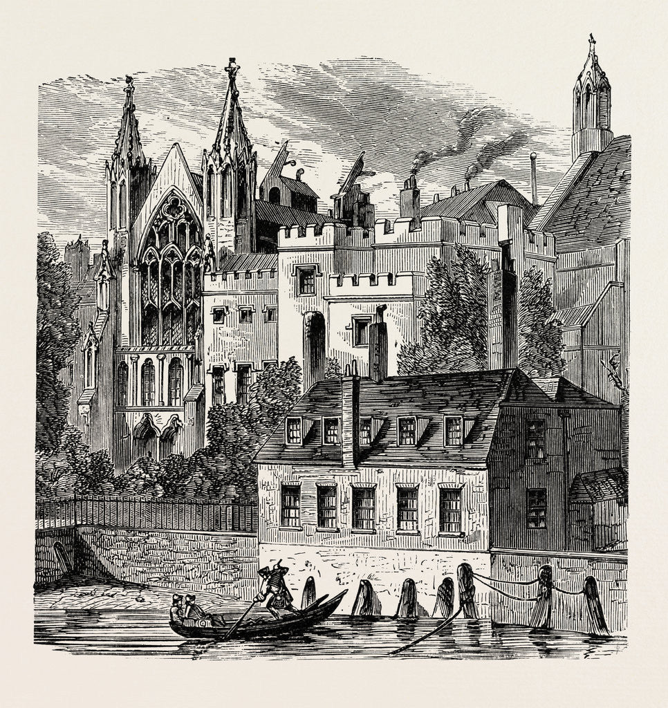 Detail of River Front of the Old House of Peers by Anonymous