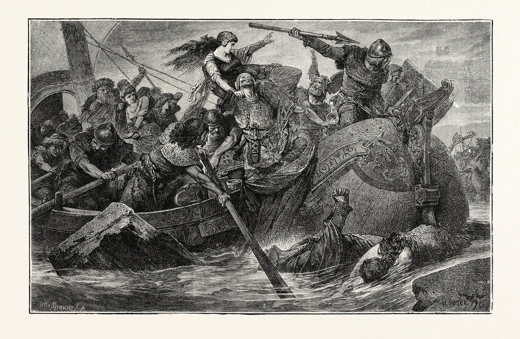 Detail of A Predatory Incursion of Teuton Invaders by Anonymous