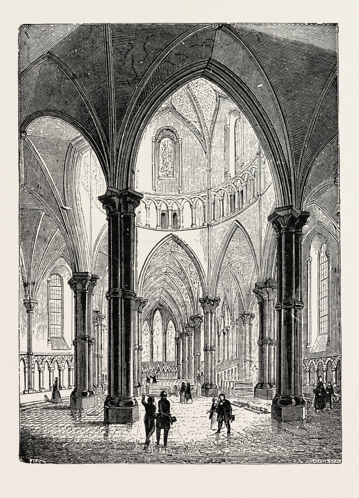 Detail of Interior of the Temple Church in London by Anonymous