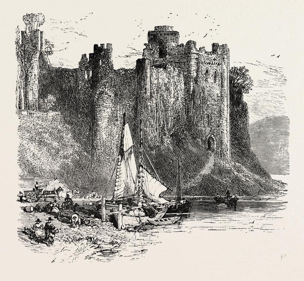 Detail of Pembroke Castle. by Anonymous