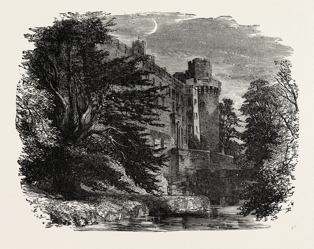 Detail of Warwick Castle. by Anonymous
