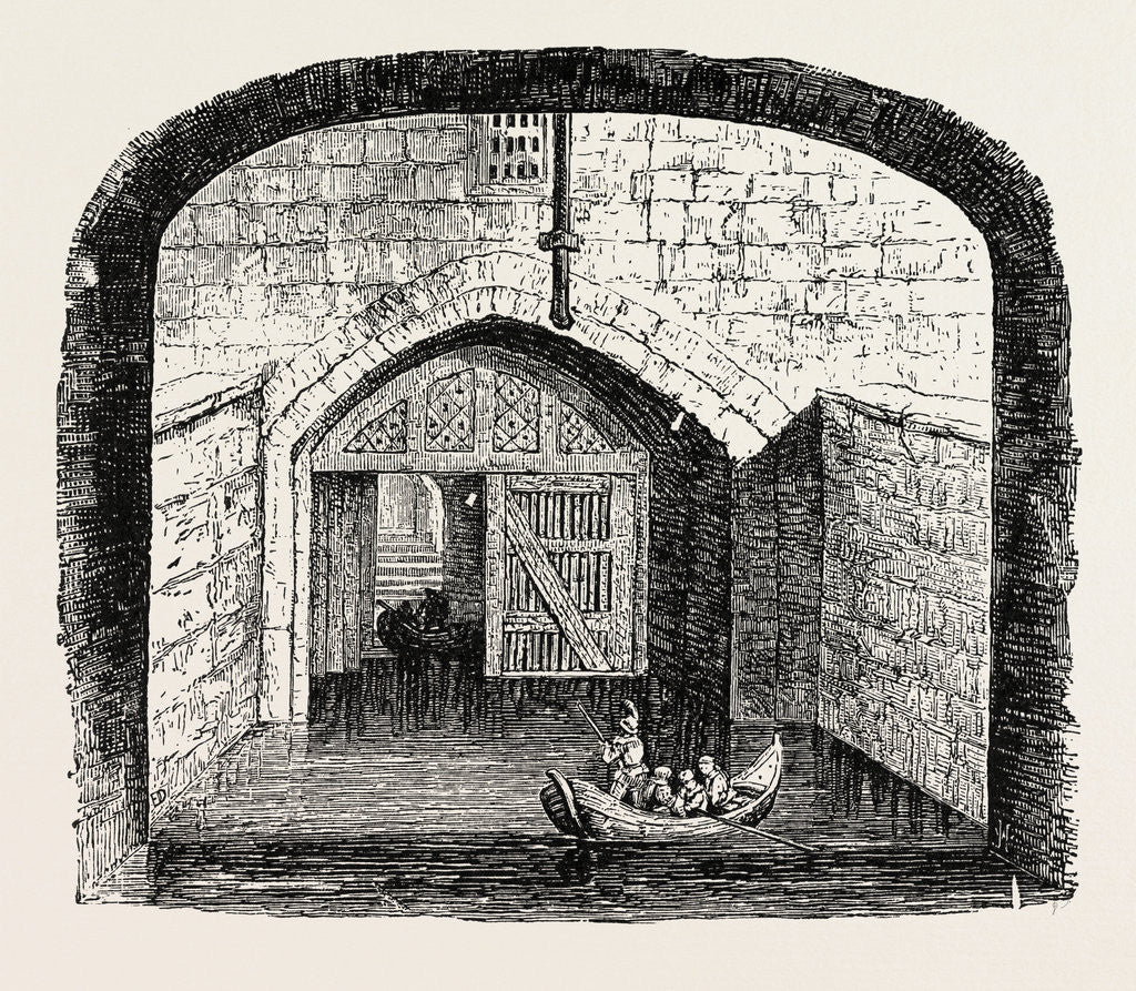 Detail of Traitor's Gate Tower of London. by Anonymous