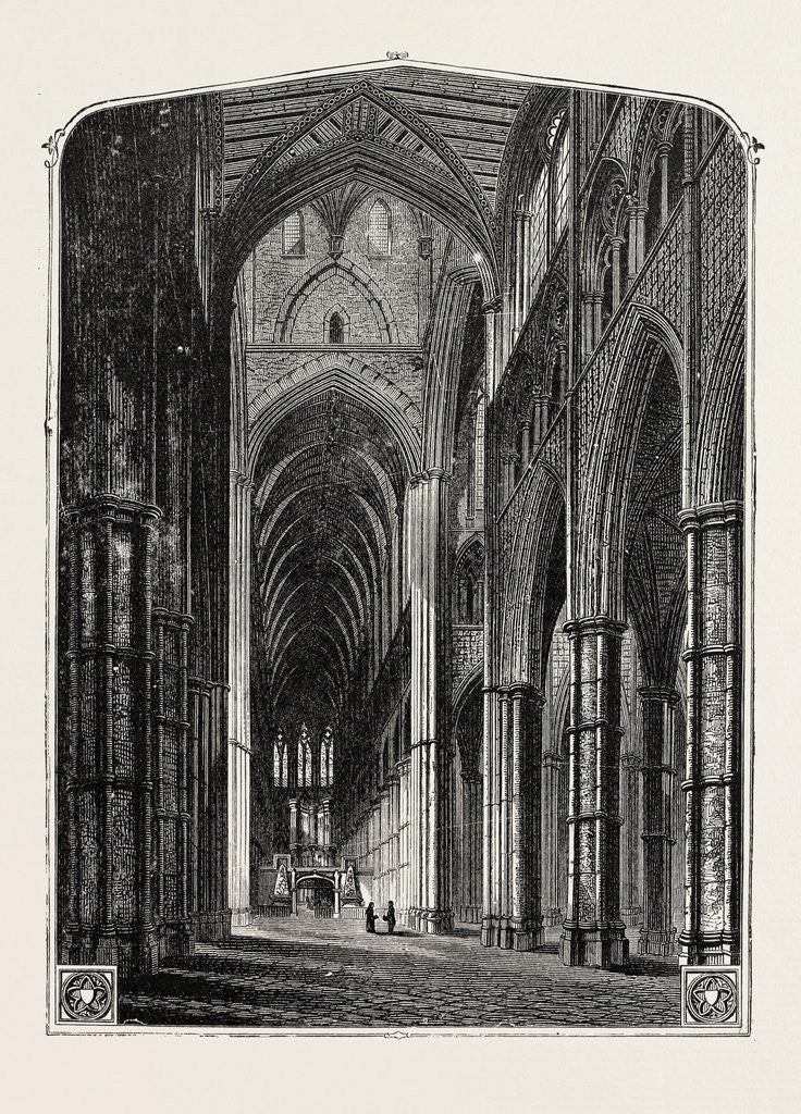 Detail of Westminster Abbey the Nave. by Anonymous