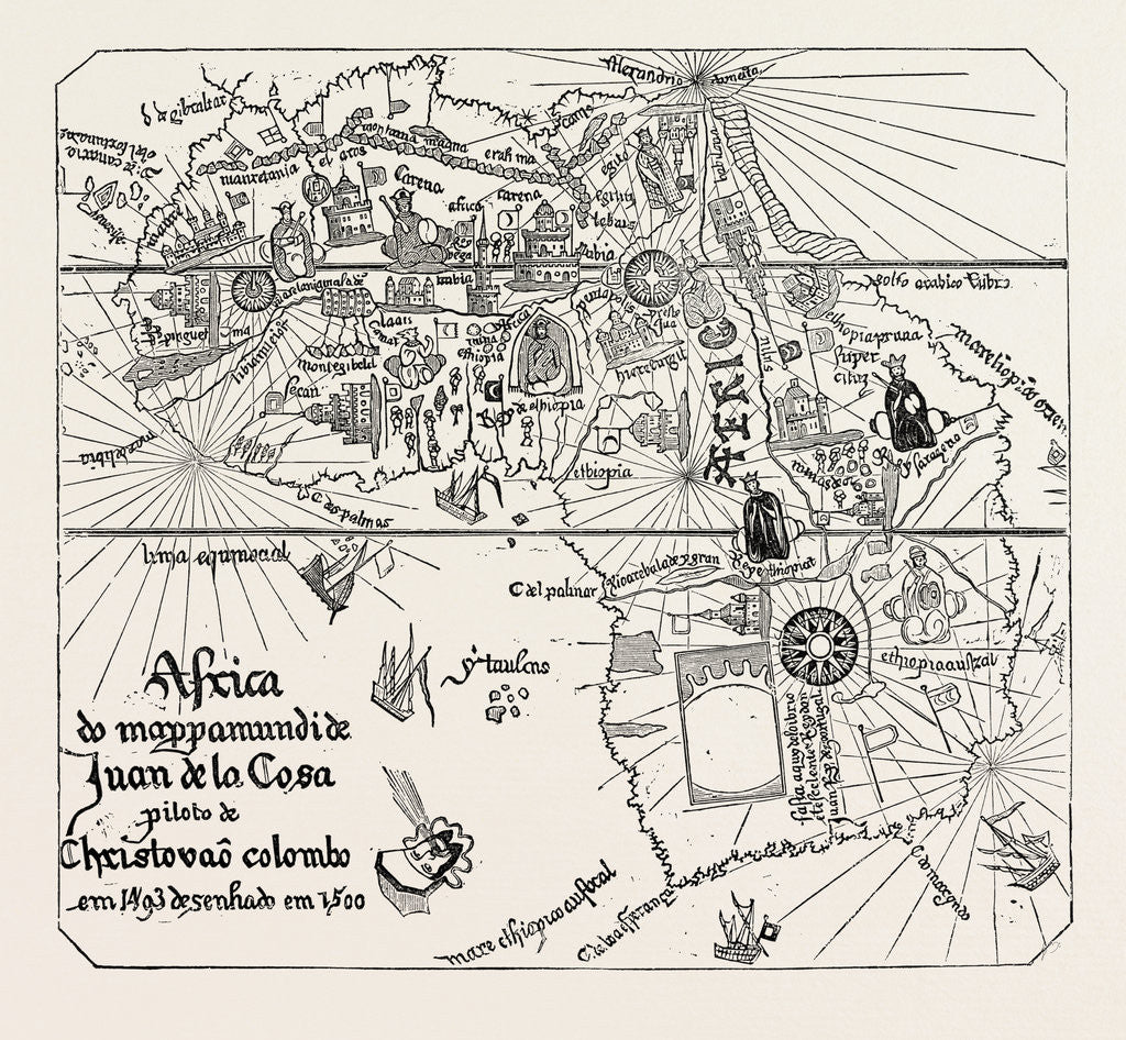 Detail of Map of Africa of the Time of Henry VII. by Anonymous